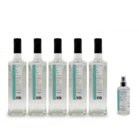 Pack 5 litros Álcool Gel 70% + oferta 200ml